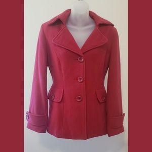 Cabi red pea coat.
